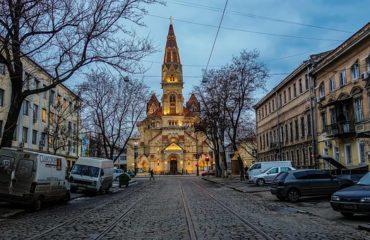 odessa straatje met kerk